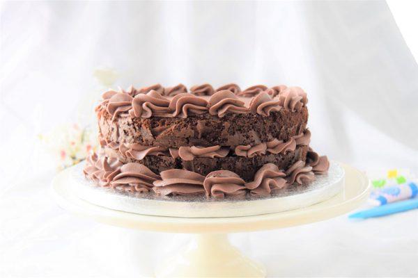 A deliciously yummy chocolate cake
