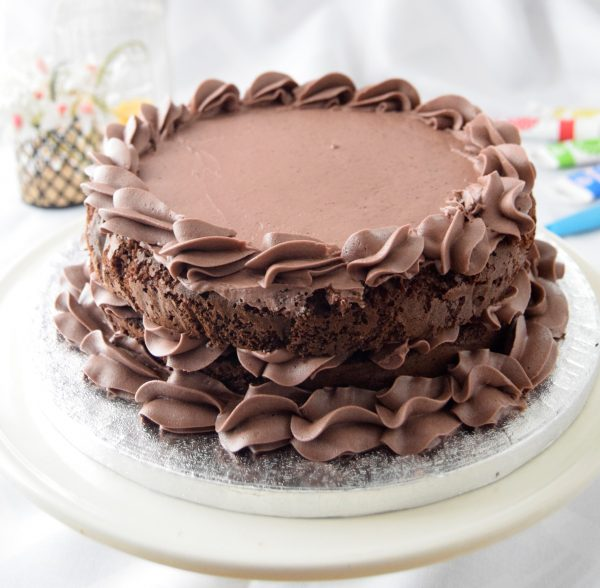 Delicious Chocolate cake with lovely decorative piping